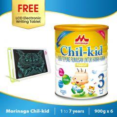 Morinaga Chil-kid 6 tins x 900g ( free 1 LCD Electronic Writing Tablet)