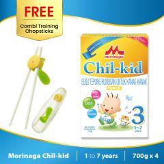 Morinaga Chil-kid 4 boxes x 700g (free 1 Combi Training Chopsticks)