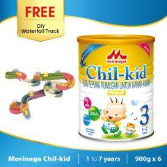 Morinaga Chil-kid 6 tins x 900g ( free 1 DIY Waterfall Track)