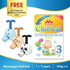Morinaga Chil-kid 4 boxes x 700g ( free 1 Air Pressure Balloon Powered Car)