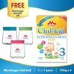 Morinaga Chil-kid 4 boxes x 700g ( free 1 Morinaga Airtight Jar)