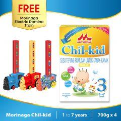 Morinaga Chil-kid 4 boxes x 700g ( free 1 Morinaga Electric Domino Train)