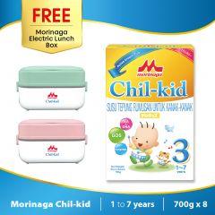 Morinaga Chil-kid 8 boxes x 700g ( free 1 Morinaga Electric Lunch Box)