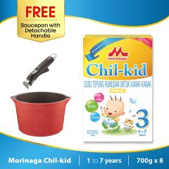 Morinaga Chil-kid 8 boxes x 700g (free 1 Saucepan with Detachable Handle)